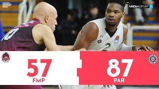 FMP - Partizan 57:87 | Pregled utakmice | ABA liga