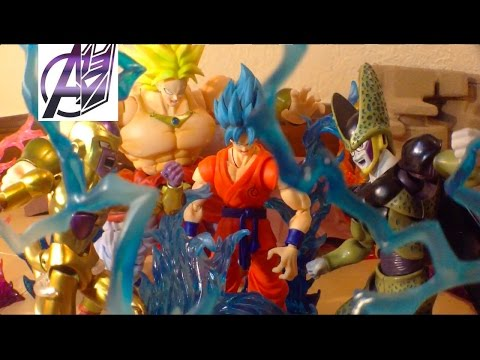 DragonBall Z [Stop Motion Film] SSGSS GOKU VS GOLDEN FRIEZA, CELL, & BROLY