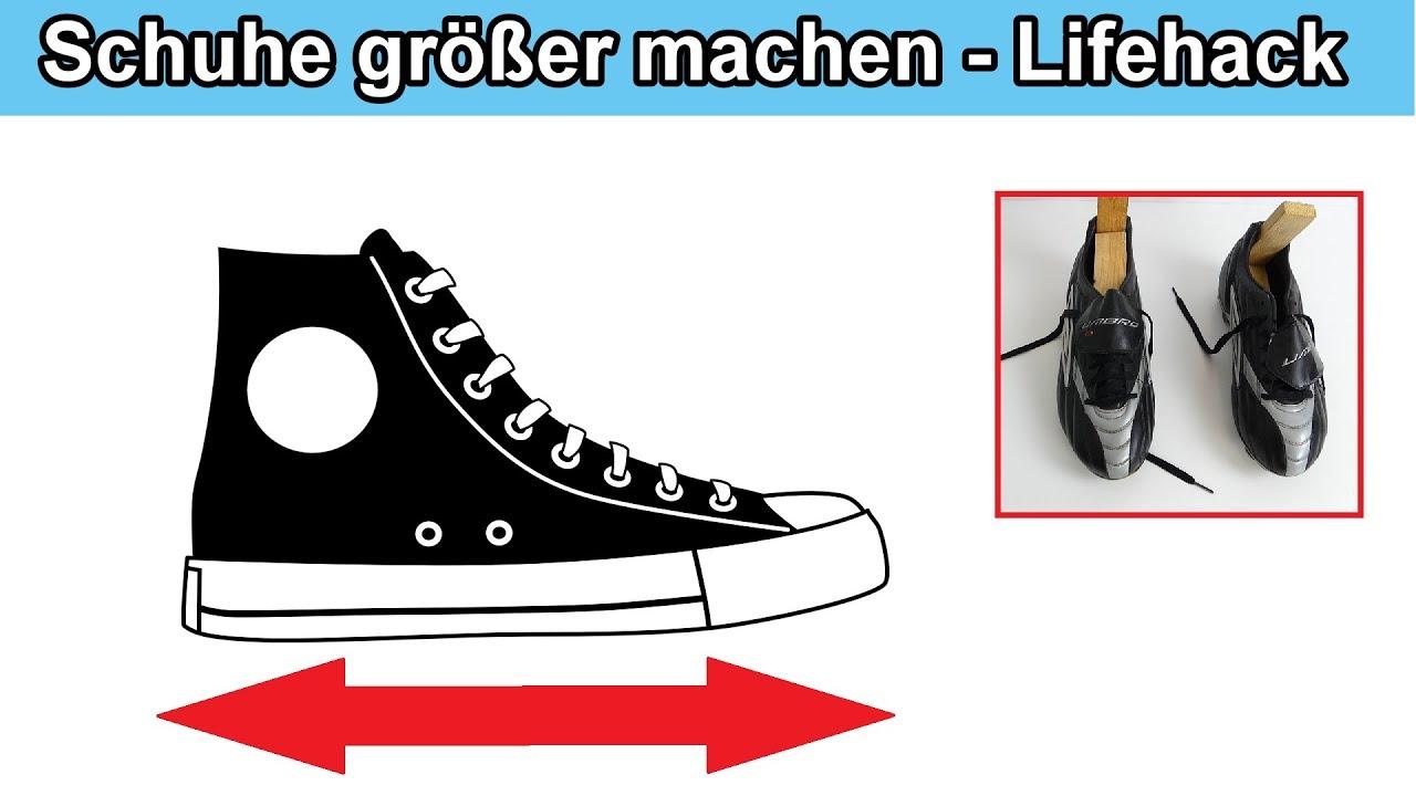 Schuhe weiten & eine Nummer größer machen – Zu enge & kleine Schuhe vergrößern Anleitung