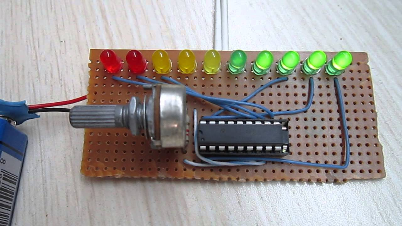 Simple Vu Meter Lm3915 Youtube Led Circuit Diagram