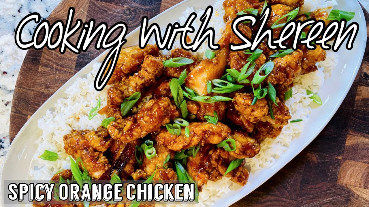 Spicy Orange Chicken Cooking With Shereen Youtube