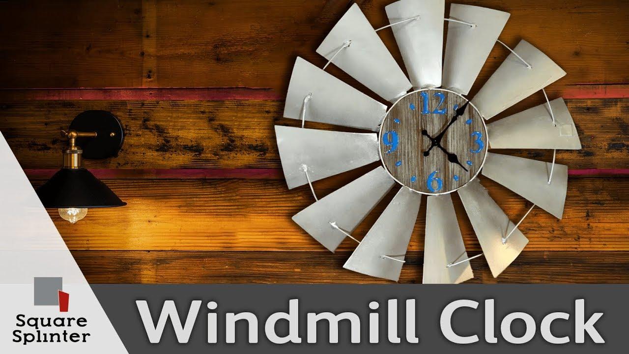 Epoxy And Barnwood Wall Clock Antique Windmill Art Youtube