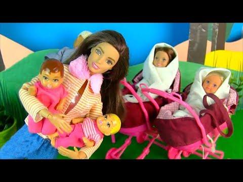НЯНЯ РОБОТ ХОЗЯЙНИЧАЕТ ДОМА КАК МАМА Мультик #Барби Куклы Игрушки Для девочек IkuklaTV