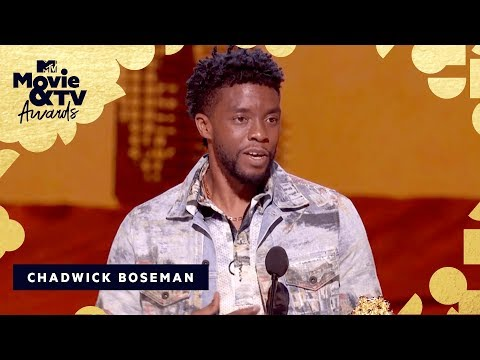 Chadwick Boseman Accepts The Award for Best Performance in a Movie | 2018 MTV Movie & TV Awards