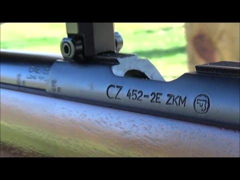 Shooting CZ 452 2E ZKM at the range.