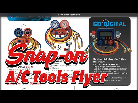 2018 SNAP-ON A/C Tools Flyer Review