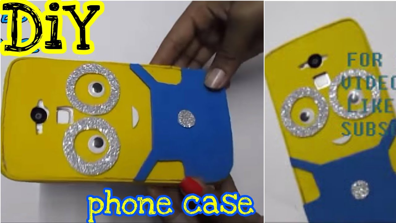 Minion Camera Case : Diy how to make phone case using foam sheet youtube