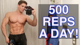 30 Day - 500 Reps A Day Challenge! | BUILD UNBELIEVABLE MUSCLE & STRENGTH! thumbnail
