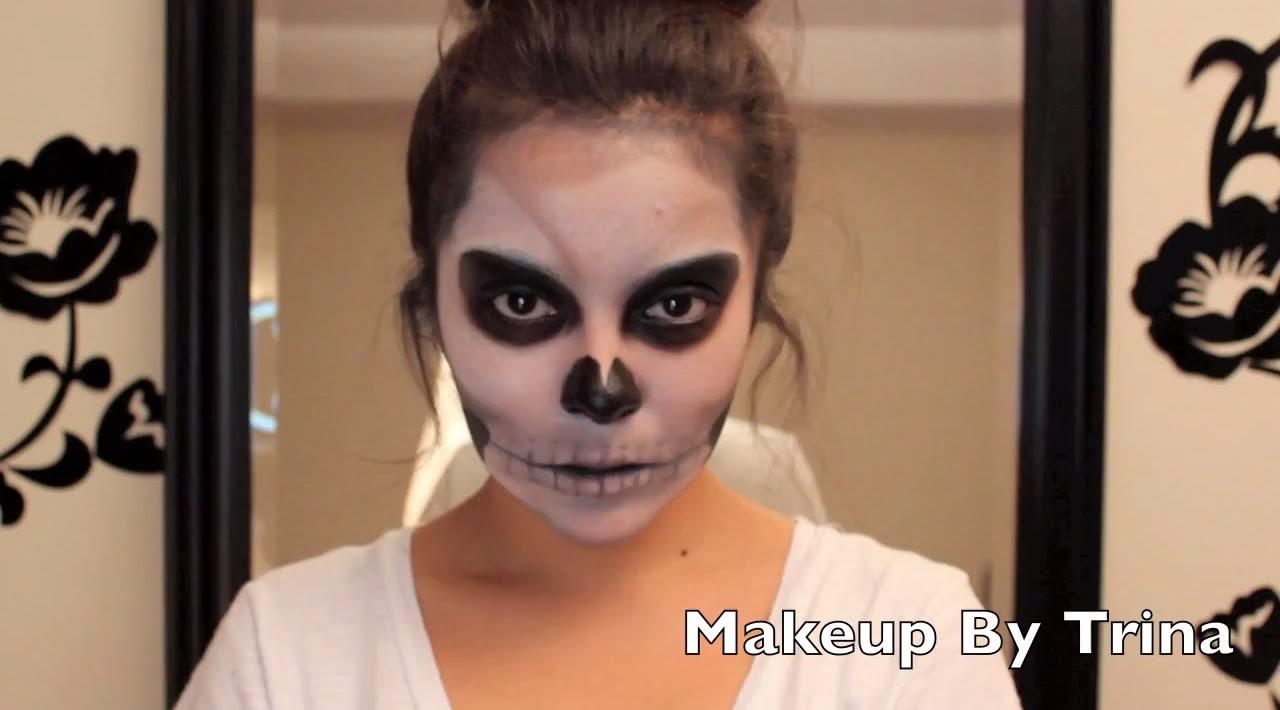 Scary skull halloween makeup tutorial youtube scary skull halloween makeup tutorial baditri Gallery