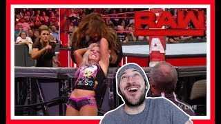 Reaction | NIA JAX Attacks ALEXA BLISS After Match With ASUKA | WWE Raw March 19, 2018