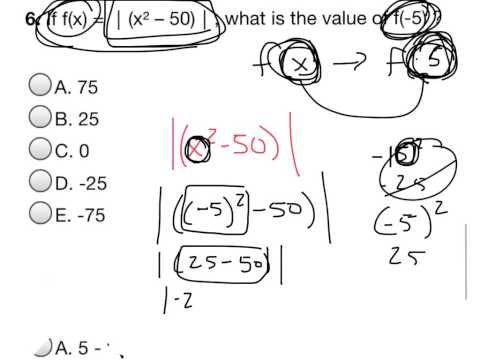 ACT/SAT PREP: Functions with Absolute Value