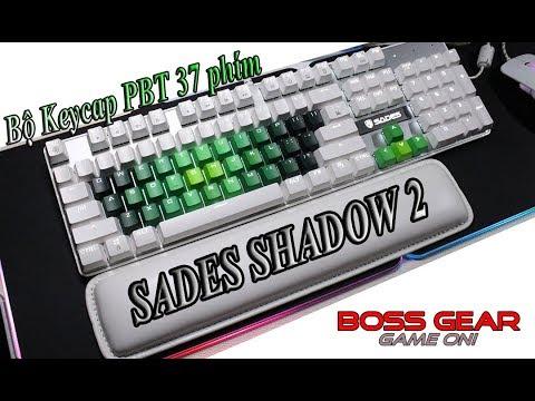 Thay bộ Keycap 37 phím PBT Dark Forest cho bàn phím cơ Sades Shadow 2 White LED