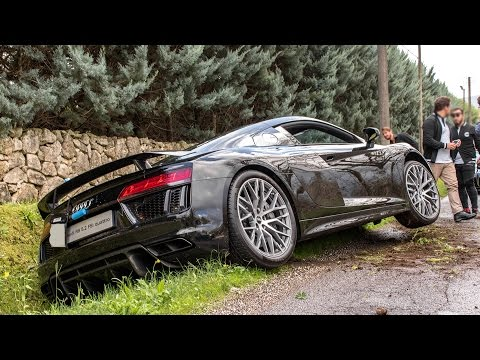 AUDI R8 V10 PLUS CRASH AT CARS AND COFFEE ITALY 2016 HQ