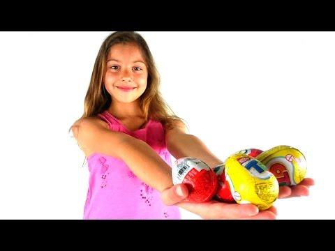 Киндер сюрприз и Поля - Видео для детей