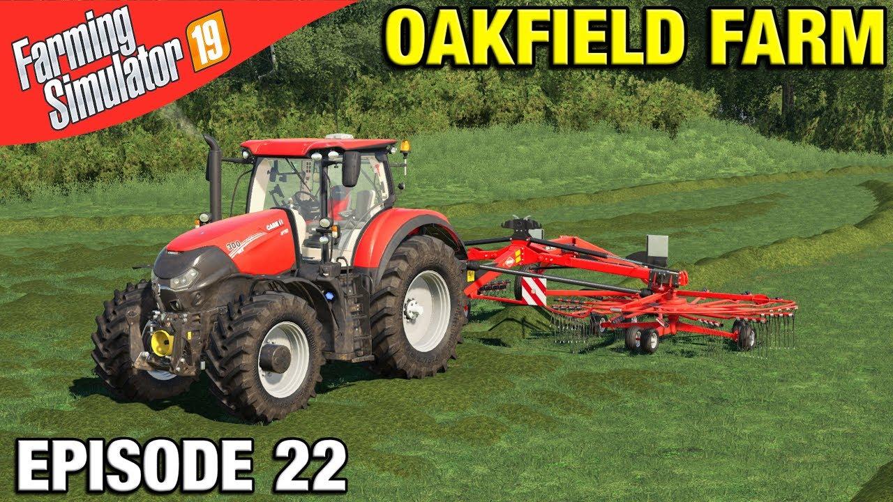 RAKING GRASS FOR SILAGE Farming Simulator 19 Timelapse