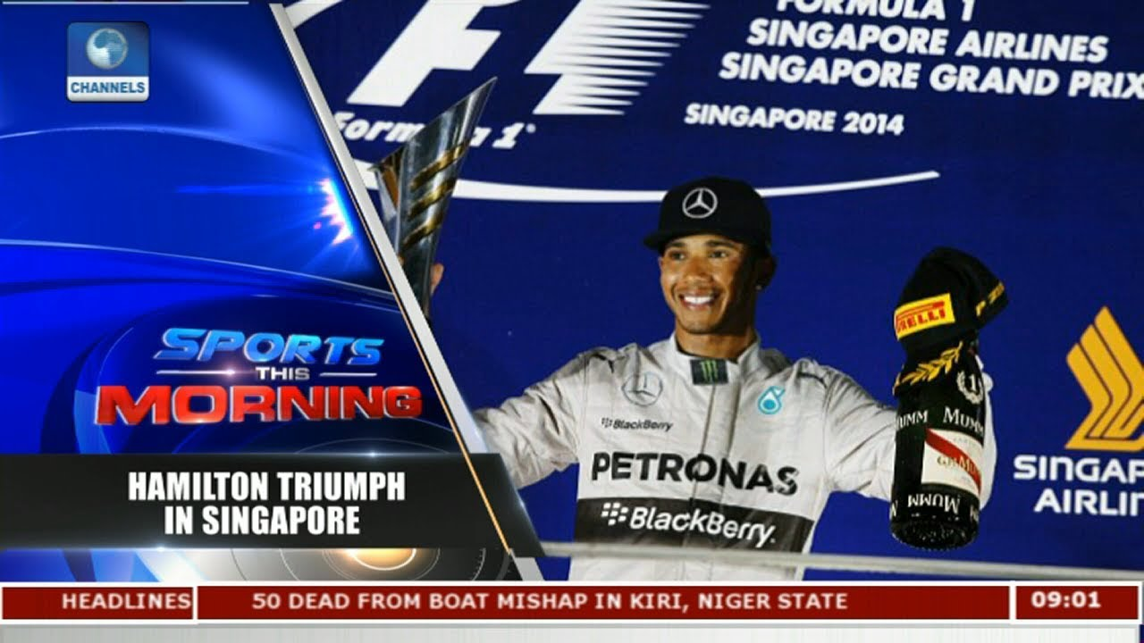 Hamilton Wins His 7th Race In Singapore Grand Prix |Sports This Morning|