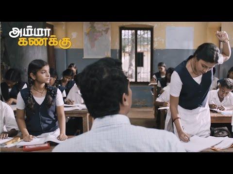 Amala Paul And Abhi Working Hard In Samuthirakani Math Class To Score High - Amma Kanakku
