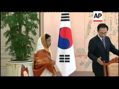 Indian President makes official visit to South Korea