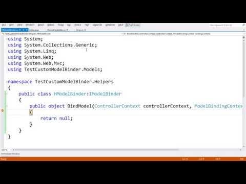 14 How to create & use Custom Model Binder In ASP.NET MVC