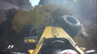 Magnussen Crashes At Eau Rouge   Belgian Grand Prix 2016