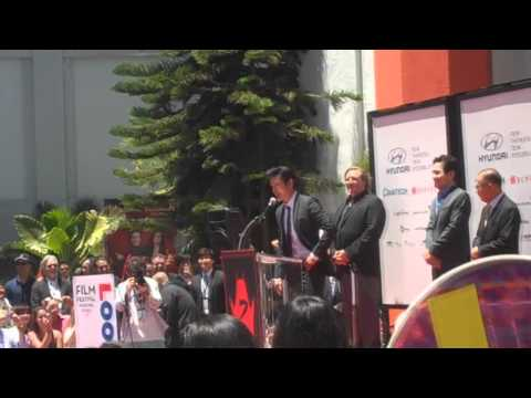 Lee Byung-Hun and Ahn Sung Ki Chinese Theater Hand & Footprint Ceremony