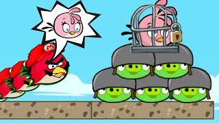Angry Birds Heroic Rescue - KICK ALL BAD PIGS! RESCUE STELLA IN FINAL LEVEL!