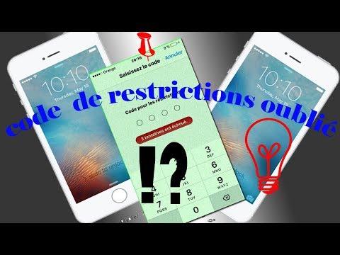Code De Restrictions De IPhone Oublié ..** Résolu**..