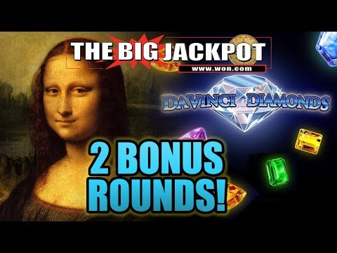 💎 DA VINCI DIAMONDS! 💎 BONUS ROUND WIN$ | The Big Jackpot