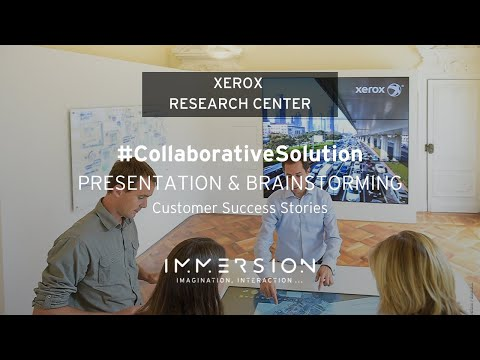 Innovative and Collaborative Room by Immersion: Xerox Research Centre Europe Technology Showroom