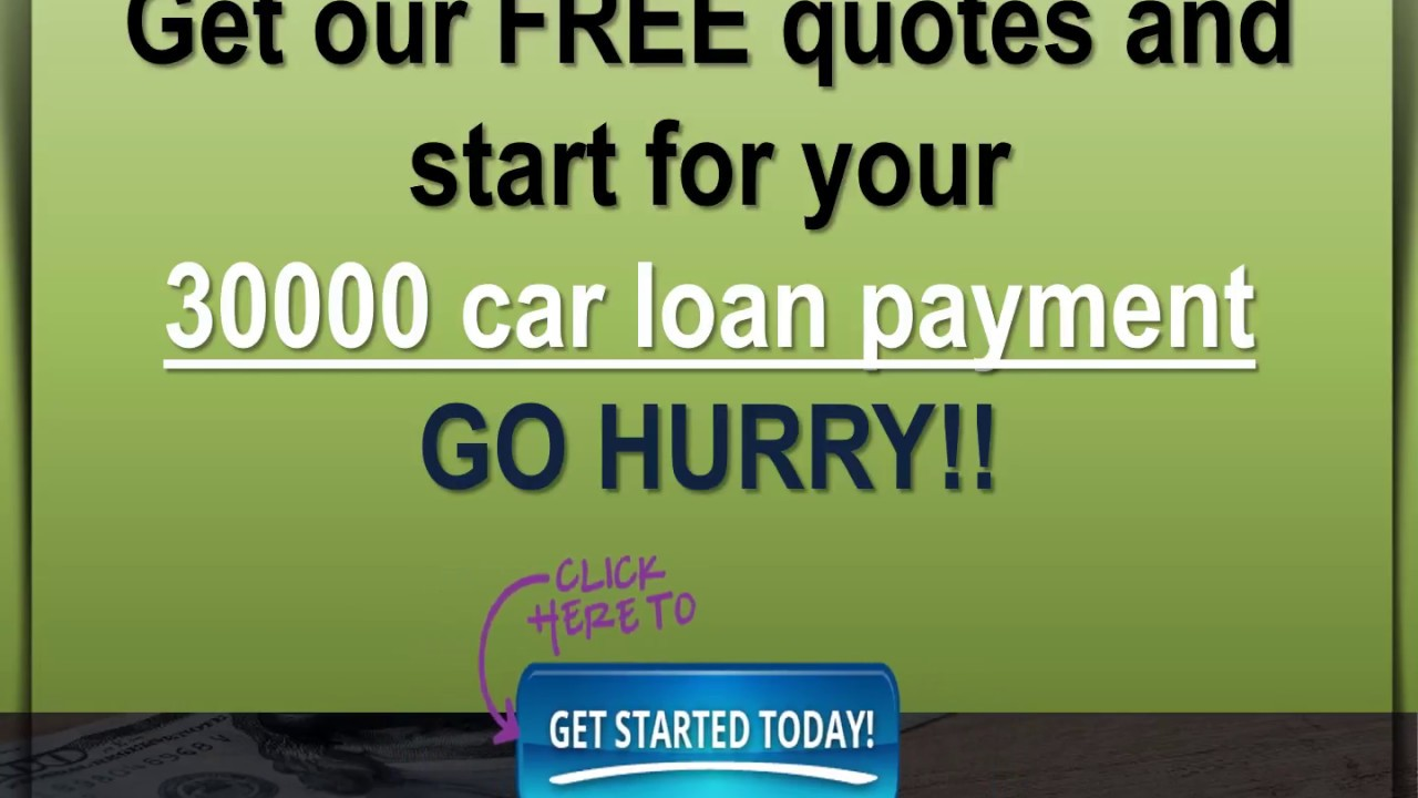 Car Payment On 30000 >> Car Loan For 30000 Pay Less Monthly Payments On 30000 Car Loan