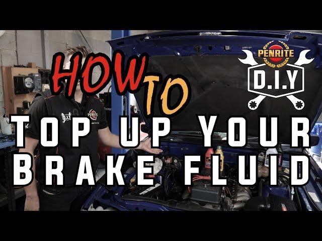 Penrite DIY How to Top Up Your Brake Fluid