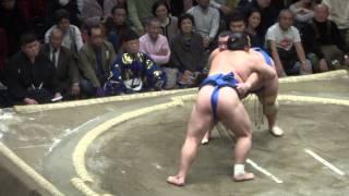 20140113 大相撲初場所2日目 隠岐の海 vs 琴将菊.