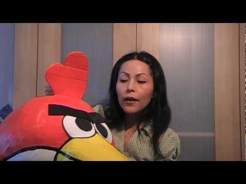 How to make an Angry bird pinata - YouTube