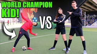 Download lagu FOOTBALL CHALLENGES VS WORLD CHAMPION KID MEHDI AMRI MP3