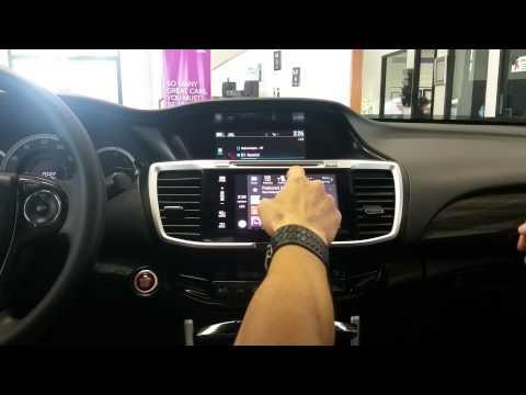 2016 honda accord apple car play youtube for Honda apple play