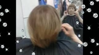 Шатуш на коротких волосах