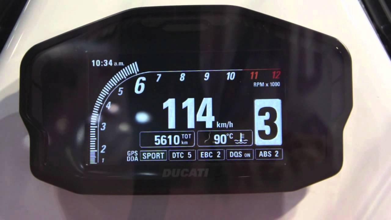 Ducati Panigale 1299 >> DUCATI 1199 PANEGALE Meter - YouTube