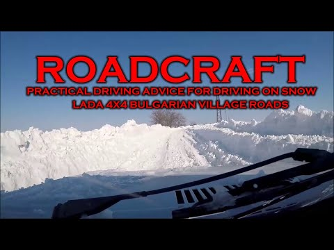 Roadcraft Practical, Driving in the Snow on Bulgarian Village Roads