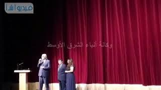 بالفيديو :  الكابتن أحمد ناجي يهنئ الشعب المصري بالتأهل لكأس العالم في ختام مهرجان  الاسكندرية
