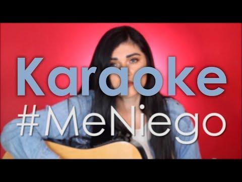 Me Niego - Reik ft. Ozuna ft. Wisin l Karaoke/Instrumental ACUSTICO Stephanie Umbert + Acordes