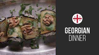 Eggplants With Nuts (baklagani S Orehami) || Around The World: Georgian Dinner || Gastrolab