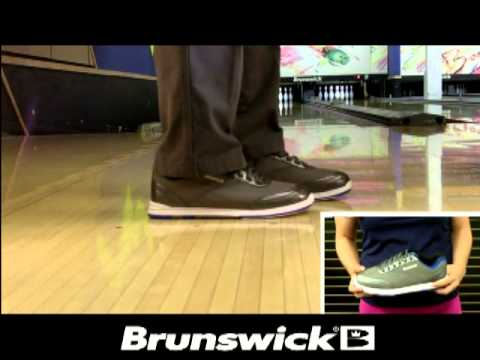 Brunswick Men's Titan (Charcoal/Royal) Bowling Shoes - YouTube