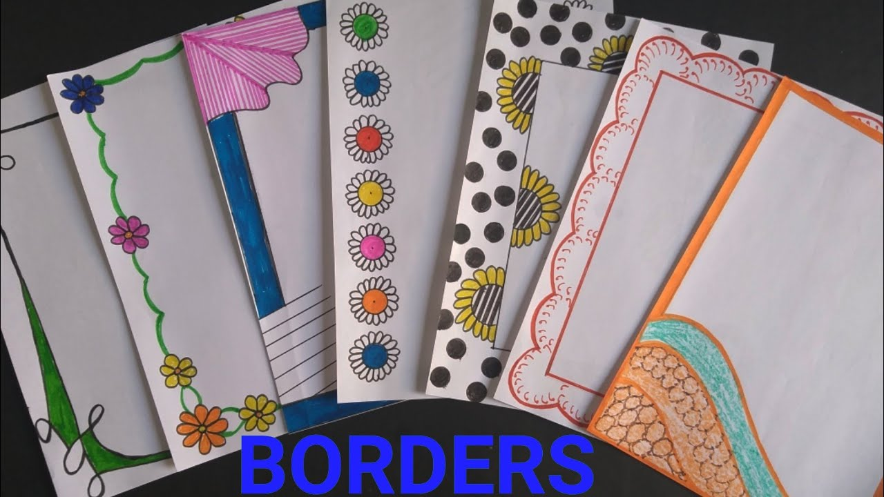 7 in 1 simple borders for projects handmade simple border