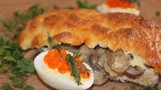 Гратен(gratin) из красной рыбы и закуска лодочки