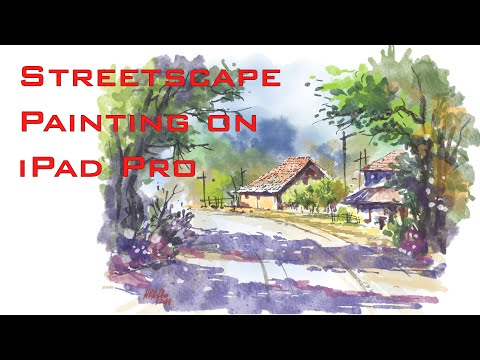 HOW TO PAINT WATERCOLOR EFFECT IN CONCEPTS APP  - iPad Pro - Time lapse
