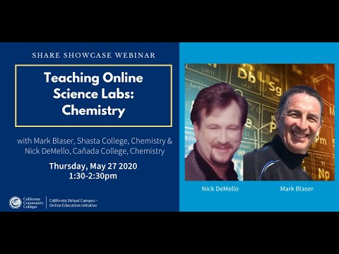 Share Showcase – Teaching Online Science Labs: Chemistry