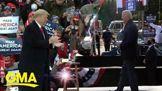 Trump, Biden campaign in swing states as early voting hits record high l GMA