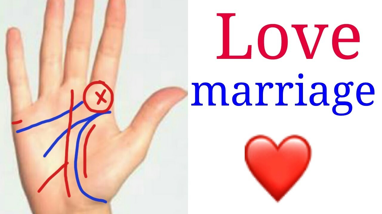 Love Marriage Line In Hand परम ववह Youtube