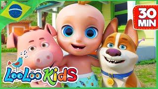 Som de animais em português - Música Infantil | LooLoo Kids Português