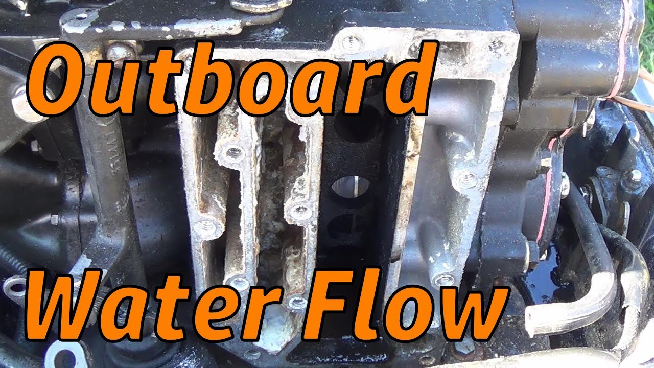 water flow on a outboard youtube diagram of 1972 65esl72s johnson outboard motor cover diagram and [ 1280 x 720 Pixel ]